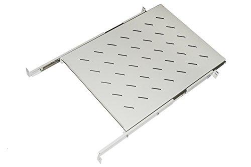 Link lkrip650eg Universal Ablage für Schrank Rack Ausziehbar auf Schienen Teleskop, 650mm, Grau (Einstellbare Schrank Schienen)