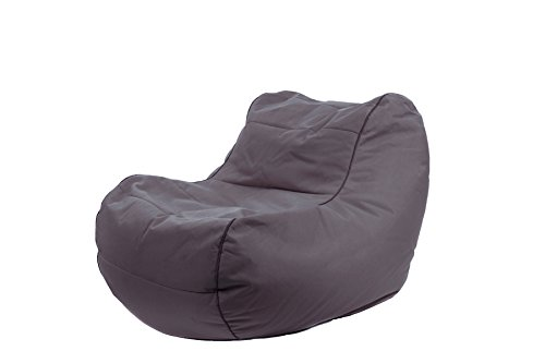 Jumbo Bag 29152 – 07 Sessel Design Chilly Bean Polyester anthrazit 105 x 75 x 70 cm