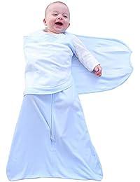 AZUO Bebé 100% Algodón De Calidad Envolver Bebé Alas Saco De Dormir- Azul Chico