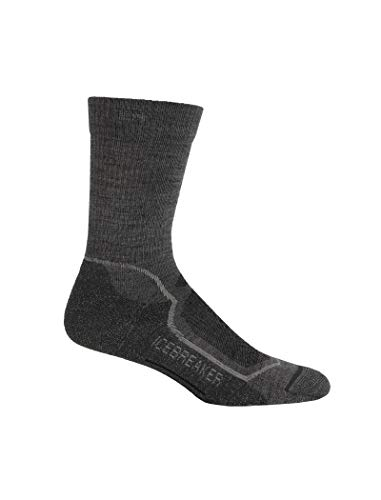 3 Light Medium Base (Icebreaker Herren Socken Hike Plus Light Crew, twister hthr/silver/oil, M, IBND08)