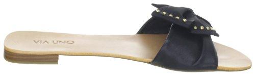 Via Uno Leather 21101603 Damen Sandalen Schwarz (Black/Black)