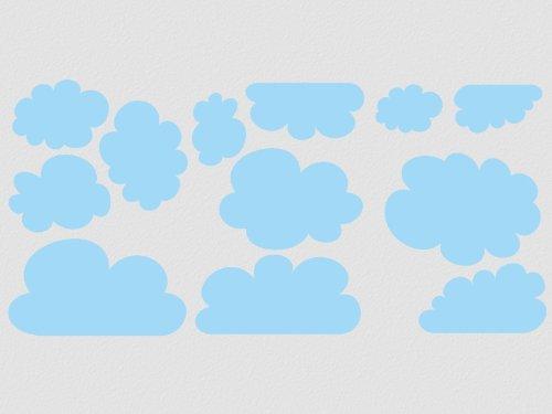 wandfabrik - Wandtattoo - 12 praktische Wolken in flieder