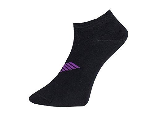 Emporio Armani 3er-Pack Großer Adler Trainer Socken (S, schwarz/grau/lila)