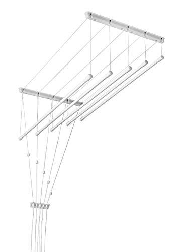Blanco techo ropa secador-polea tendedero-fácil puedes
