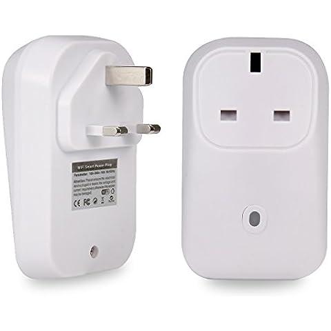 Wifi Smart Plug Socket de Smart Switch inalámbrico interruptor de control remoto, oenbopo Home Teléfono WIFI Inteligente con Función de Encendido para Apple iPhone, iPad y Samsung dispositivos Android (UK