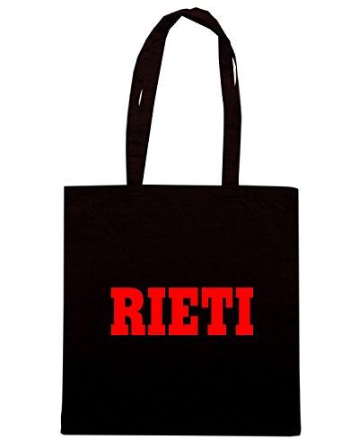 T-Shirtshock - Borsa Shopping WC0971 RIETI ITALIA CITTA STEMMA LOGO Nero