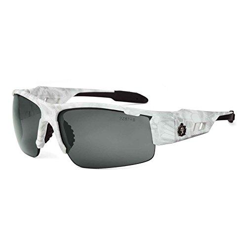 Ergodyne Skullerz Dagr Polarized Safety Sunglasses- Kryptek Yeti White Camo Frame, Smoke Lens