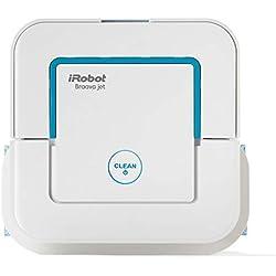 iRobot Braava Jet 240,robot laveur de sols avec pulvérisateur d'eau haute précision,3 en 1: modes balayage,nettoyage humide et lavage,idéal pour salles de bain et cuisines