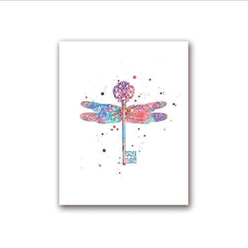 yhnjikl Harry Potter Aquarell Kunstdrucke Hagrid Und Fang Poster Leinwand Malerei Flying Key Wandbild Drucke Kinderzimmer Dekoration 40X60 cm Ohne Rahmen