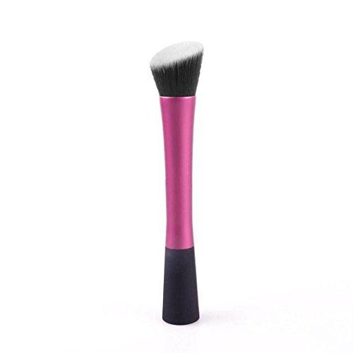 Internet Techniques Pinceaux Visage Teint Poudre Contour Blush Cosmetic Outil De Maquillage Rose Vif