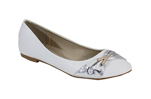 By Shoes - Damen Ballerinas Blanc