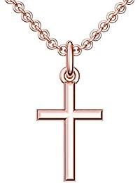 Kreuzkette Rotgoldkreuz Kette mit Kreuz Anhänger hochwertig vergoldet!   inkl. Luxusetui +   Kreuz 22811c6e9e