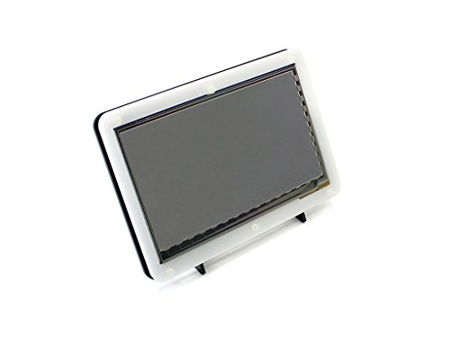 Waveshare 7 Inch Capacitive Touch Screen LCD(C) With Bicolor Case 1024*600 HDMI Interface Display Shield Panel Supports Raspberry Pi/BB BLACK/PC/Various Systems/Raspberry Pi 3 Model B