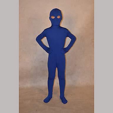 HAOBAO Zentai Anzüge Ninja Fest/Feiertage Halloween Kostüme Blau einfarbig Zentai Kostüme Kind Lycra, (Kinder Schädel Ninja Kostüm)
