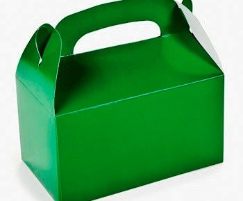 6 Green Treat or Party Food Lunch Boxes | Kids Party Lunch Picnic Box