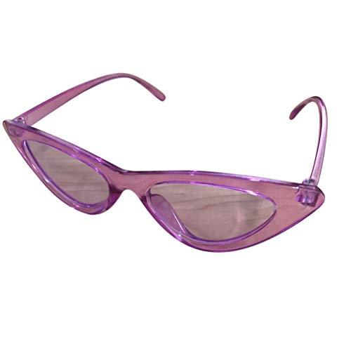 QinMM Unisex Vintage Eye Sonnenbrillen Retro Eyewear Fashion Strahlenschutz 90er UV400 Sonnenbrille