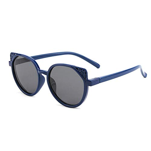 Zhanying Kinder-Sonnenbrille, Sonnenbrille, Sonnenschutz, UV400, voller Rahmen, TAC Fashion dunkelblau