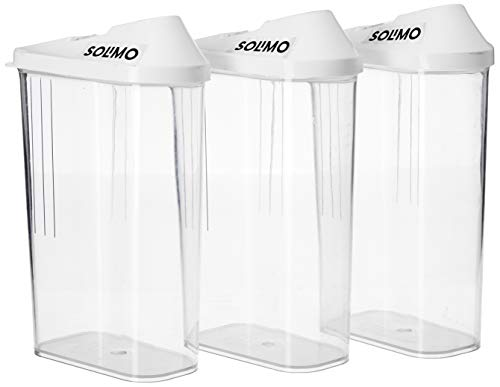 Amazon Brand - Solimo Plastic Storage container Set with sliding mouth (Set of 3, 1100ml)