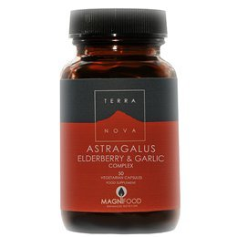 TERRANOVA Astragalus Elderberry & Garlic Complex - 100 Vegicaps by TerraNova