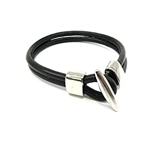 Style Bracelet Leather Bracelet Brown with Anchor Fasteners 21 cm 1590
