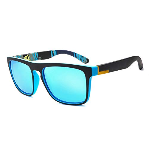 Gläser Herren polarisierte Sonnenbrillen Mode Sport Laufen Angeln Fahren Sonnenbrillen (Color : Blau, Size : Kostenlos)