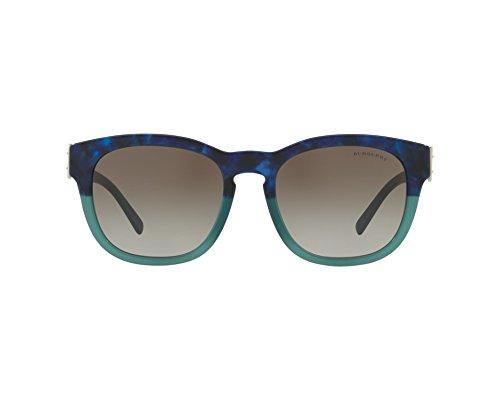 BURBERRY Damen 0BE4258 36778E 54 Sonnenbrille, Blau (Bluette Havana/Green/Greengradient)