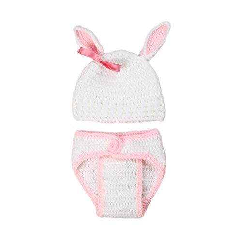FYGOOD Traje unisex de Fotografía de bebé traje de conejo blanco