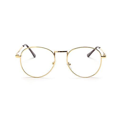 Aprigy - Metall Vollrand Brillen für Frauen Lesebrille Männer Brille Weibliche Sonnenbrille Objektiv Designer Vintage-Brillen [C]