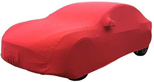 WJQSD Autoschutzhülle Autoabdeckung Kompatibel Mit Rolls-Royce Ghost Auto Show Garage Indoor-Ausstellungshalle Keller UV-Schutz Staubdichtes Stretch Tuch (Color : Red)