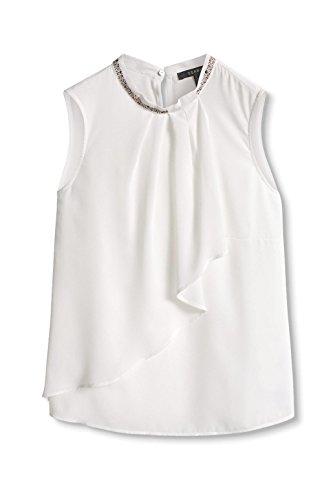 ESPRIT Collection Damen Bluse Weiß (off White 110)