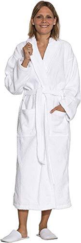 LUUT Zollner 020 - Albornoz para Hombre y Mujer algodón, Tallas S-6XL, Color Blanco, Blanco, Medium...