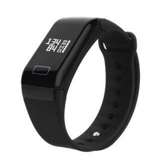 TENGGO Single Touch Smart Armband Armband Watch Bluetooth Heart Rate Fitness Tracker-Schwarz