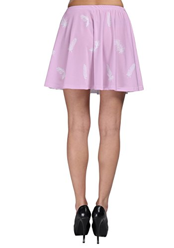 CowCow - Jupe - Femme Multicolore noir/blanc Pink Bird