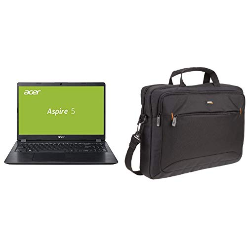 Acer Aspire 5 (A515-52G-53PU) 39, 6 cm (15, 6 Zoll Full-HD IPS matt) Multimedia Laptop Schwarz & AmazonBasics Tasche für Laptop / Tablet mit Bildschirmdiagonale 15,6 Zoll / 39,6 cm