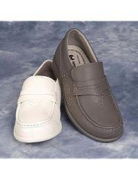 Henselite Amy Slip sobre damas Tan tazones zapatos, canela, talla 5,5