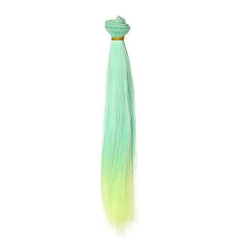Clip in Extensions Puppe Perücke SSUDADY 25cm Gerade Haarreihe DIY/BJD Wig Cool Perücke COSPLAY/Party/Kostüm/Karneval/Maskerade (Coole Kostüme Diy)