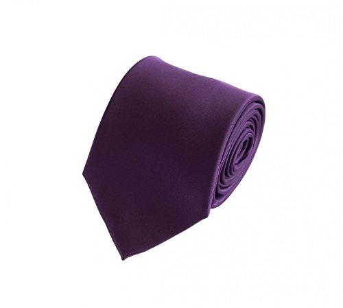 Fabio Farini Edle Krawatte, 8 cm in verschiedenen Farben, Lila unifarben