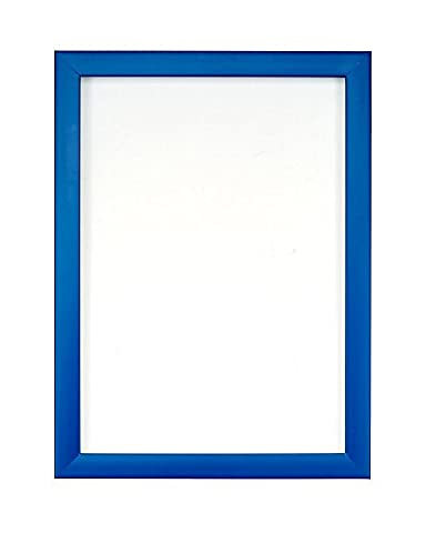 Rainbow Colour Range Picture/Photo/Poster frame- With an MDF backing board- Ready to hang or stand - With a High Clarity Styrene Shatterproof Perspex Sheet-Blue-6