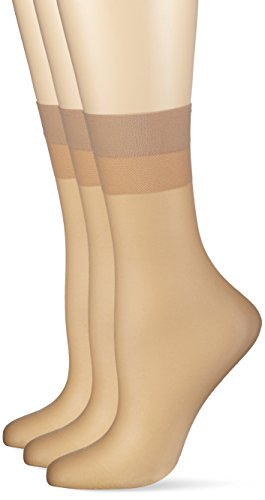 Hudson Damen 030044 Socken, 15 DEN, Beige (Teint 0010), 39/42 (3erPack) -