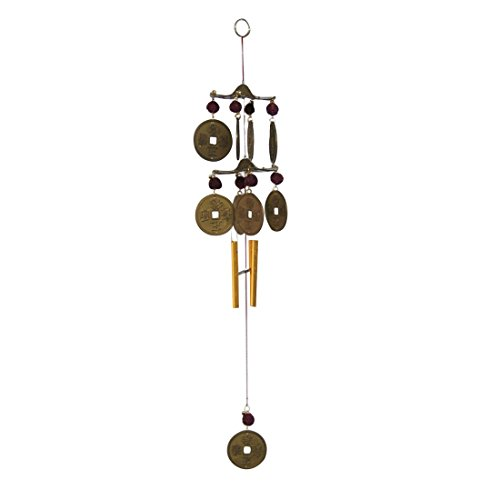Divya Mantra Feng Shui Rudraksha Coin Wind Chime  available at amazon for Rs.349