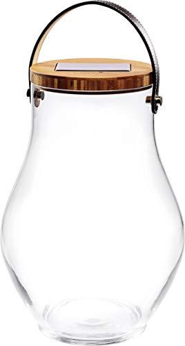 Krinner Deco Glass Bold 22520 Dekoleuchte LED Warm-Weiß Klar, Bambus, Schwarz