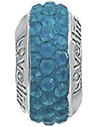 Lovelinks 11831492-24 'Hematite Mosaic' Crystal Bead HeqaRa7