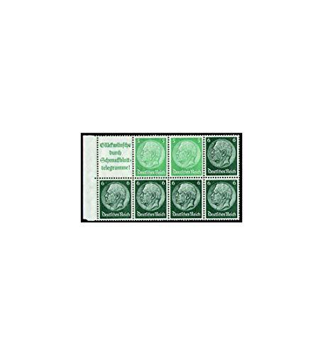Goldhahn Deutsches Reich Markenheftchenblatt Nr. 99 postfrisch ** Hindenburg A14+5+6 Pfennig Briefmarken für Sammler