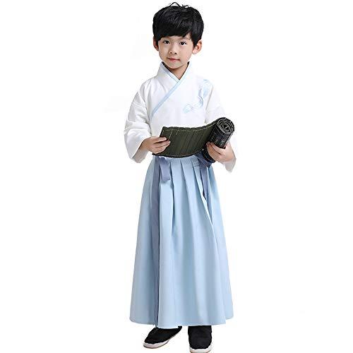 Chenyang86 Hanfu-Nationale Retro-Kostümkleidung im chinesischen Stil (Farbe : Hellblau, größe : 175cm)