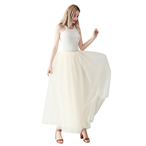 ShowYeu Women's A-line Pleated Petticoat Tulle Skirts for sale  Delivered anywhere in UK