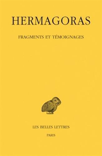 Fragments et témoignages par Hermagoras