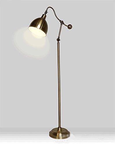 Floor DL Lampadaires Lampadaire rétro de Style européen/lampadaire en cuivre Antique/rétro Lampe de Plancher en métal Lampe sur Pied