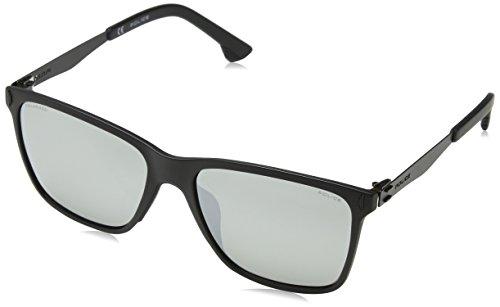 Police Flow 2 Gafas de Sol, Negro (Semi-Matt Black), 44 para Hombre