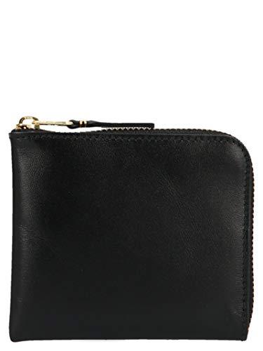 Comme des Garçons Herren Sa3100black Schwarz Leder Brieftaschen -