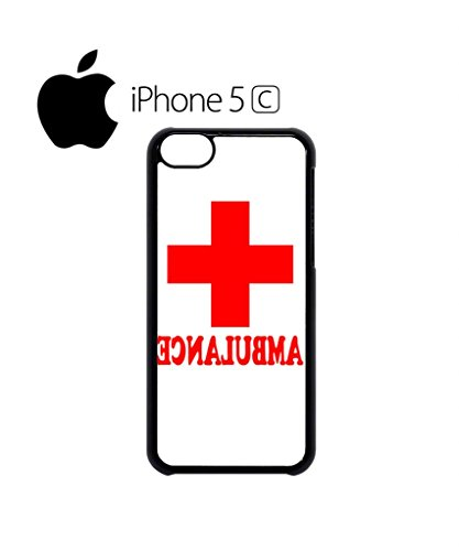 Ambulance Funny Red Cross Mobile Cell Phone Case Cover iPhone 5c Black Schwarz